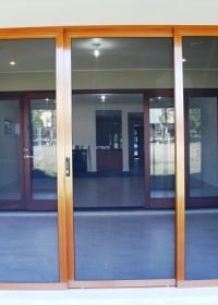 CS Patio enclosure sliding door outside