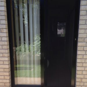 Crimsafe Sliding Door on Laundry with Black Frame