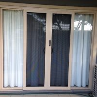 Crimsafe Sliding Doors Cream