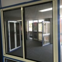 Crimsafe double sliding grille