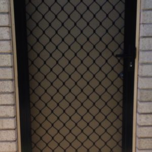 Diamond Grille Hinged Door Black