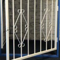 Hinged Steel Window Grille Variation of D7 Design Open