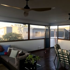 Inside Crimsafe Balcony Enclosure