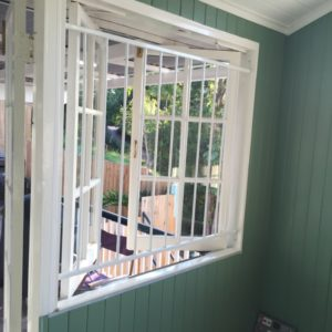 Steel Grille Casement window open