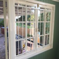 Steel Grille on Casement windows closed